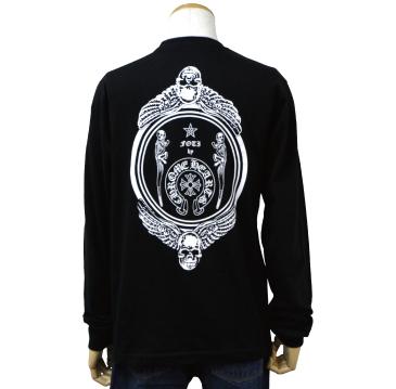 クロムハーツ chrome hearts ロングTシャツ フォティ ブラック