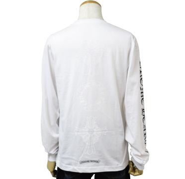 クロムハーツ chrome hearts ロングTシャツ ヘアリークロス&ホースシュー ホワイト