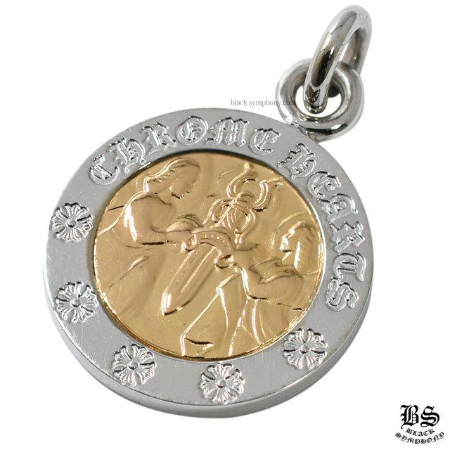 chrome hearts クロムハーツ エンジェルメダルチャームV2 ホワイトゴールド18K&ゴールド22K 税込 \599,830