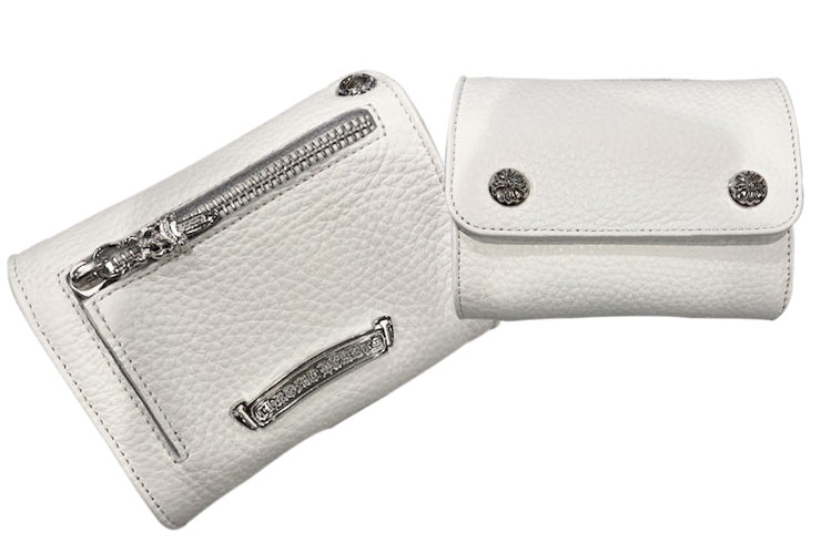 chrome hearts クロムハーツ 財布 ウェーブウォレット mini ホワイト