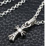 chrome hearts クロムハーツ メンズギフトにおすすめのネックレス CHクロスベビーファットチャームwithパヴェダイヤモンド