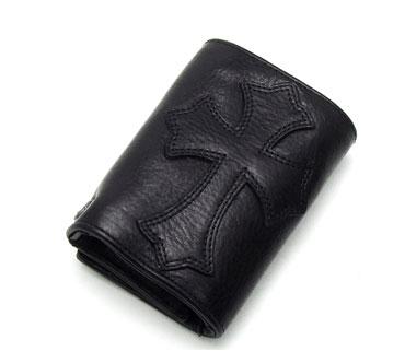 chrome hearts クロムハーツ 財布 3フォールド ウォレット セメタリークロスパッチ