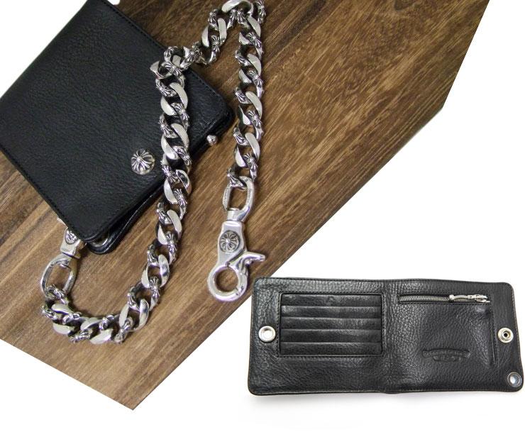 chrome hearts クロムハーツ 財布 1スナップ クロスボタン ウォレット2